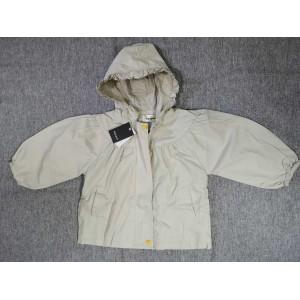 Rgogak Girls hooded double pocket zipper coat