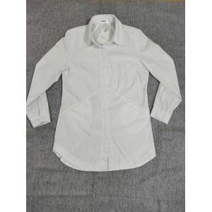 Yoeyez Womens white Long Sleeve Button Down Shirts Simple Blouses Stretch Shirt