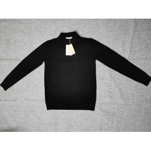 DXOjAUL Turtleneck sweater warm sweater solid color black