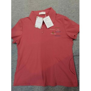 JINMGG Women's Blouse Short-Sleeved Shirts Top Red
