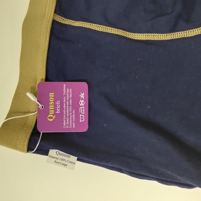 Qunson Men's Brief Underwear Multipack Black 6 Pack