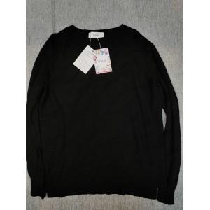 YiFudd Crewneck Long Sleeve Pullover Sweaters Black