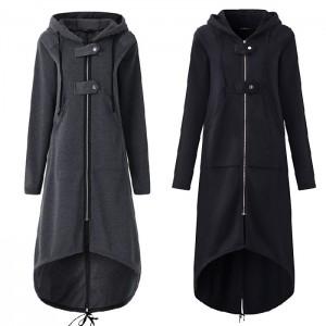 2019 new eBay Amazon wise fleece Sweater Hoodie zi...