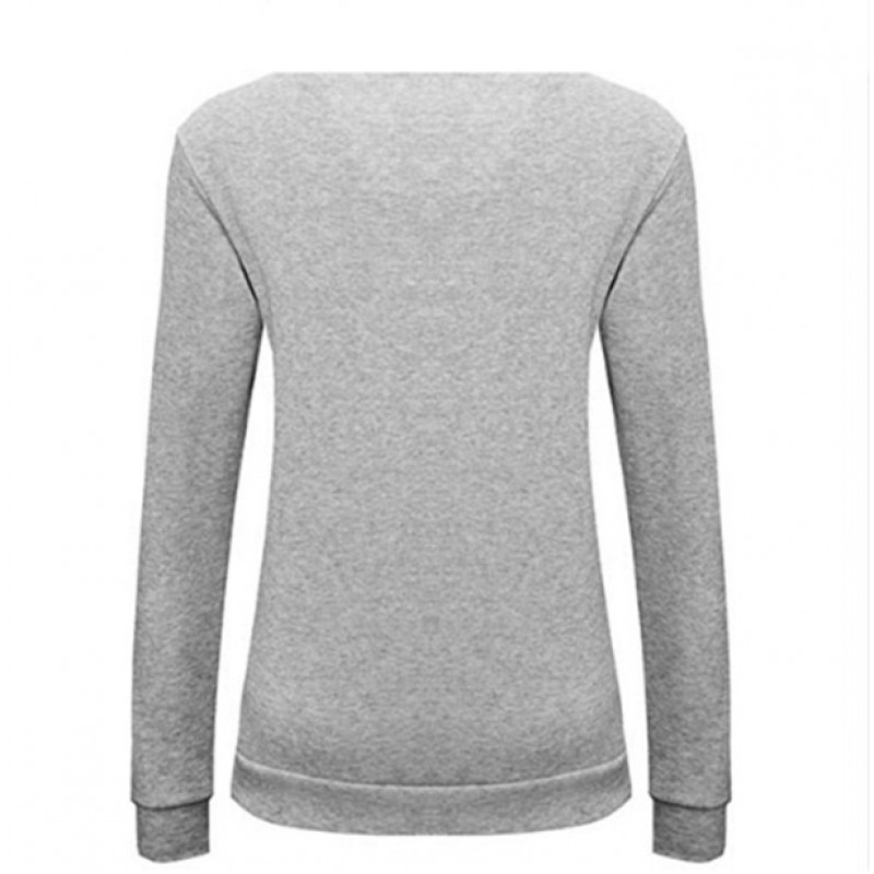 Amazon express Europe and America new letter printed sweater women's autumn and winter wear Plush loose crew neck casual top