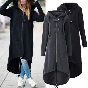 2020 new eBay Amazon wise fleece Sweater Hoodie zi...