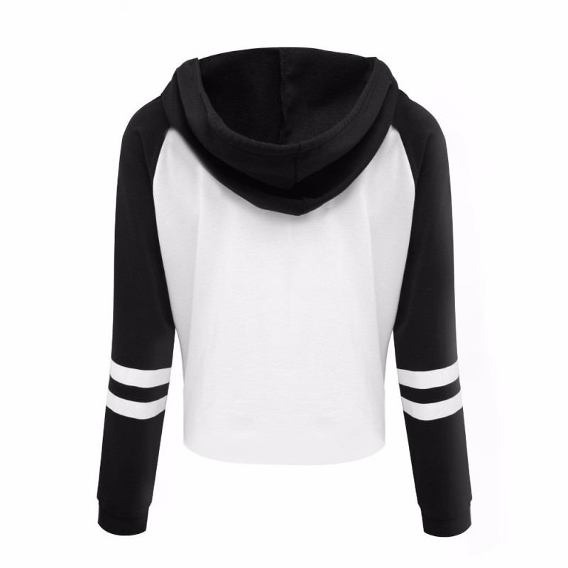 Amazon quick sell through the new European and American letter printing casual Hoodie sanitary clothes women's autumn winter wear loose color matching top
