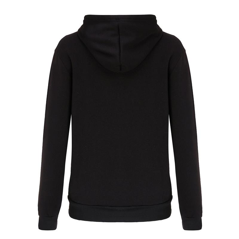 Amazon express Europe and the United States new letter printed Hoodie women's autumn and winter wear Plush slim casual top